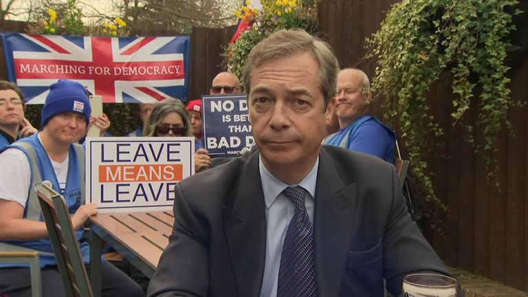 The Brexit Party leader said there was more battles to fight.