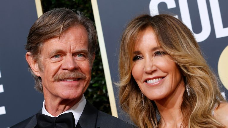 76th Golden Globe Awards - Arrivals - Beverly Hills, California, U.S., January 6, 2019 - William H. Macy and Felicity Huffman