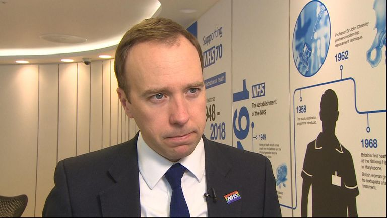 Health Secretary Matt Hancock MP said Chris Grayling shouldn't resign over the Eurotunnel settlement.