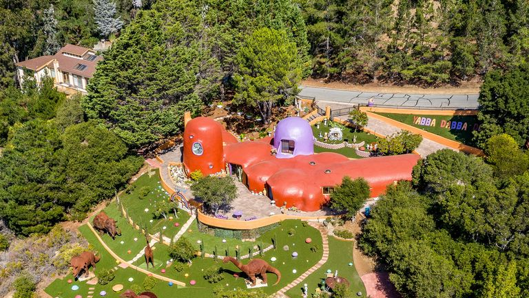 New additions to the Flintstone House include dinosaurs. Pic: Jim Maurer/Flickr