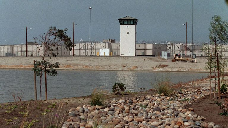 Mr Carrillo was moved to Corcoran State Prison, pictured, after he served time in a youth authority