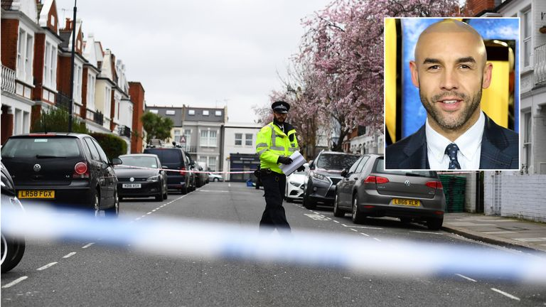 Alex Beresford (inset) is a cousin of a Fulham stab death victim
