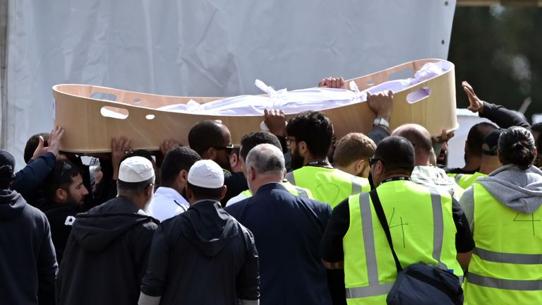 The funeral of Khalid Mustafa  and his son Hamza Mustafa