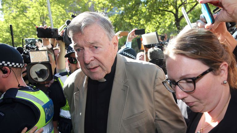 Cardinal George Pell pictured on 27 February