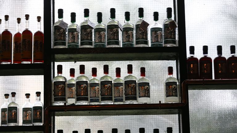 Bottles from the Sipsmith gin range