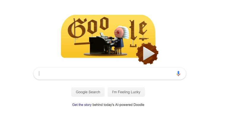 Google has used new tech to celebrate Johann Sebastian Bach's birthday