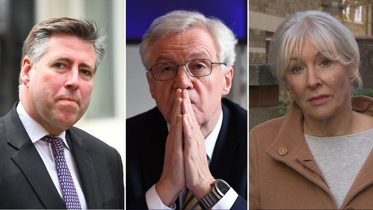 Sir Graham Brady, David Davis and Nadine Dorries changed their minds to back Mrs May's deal