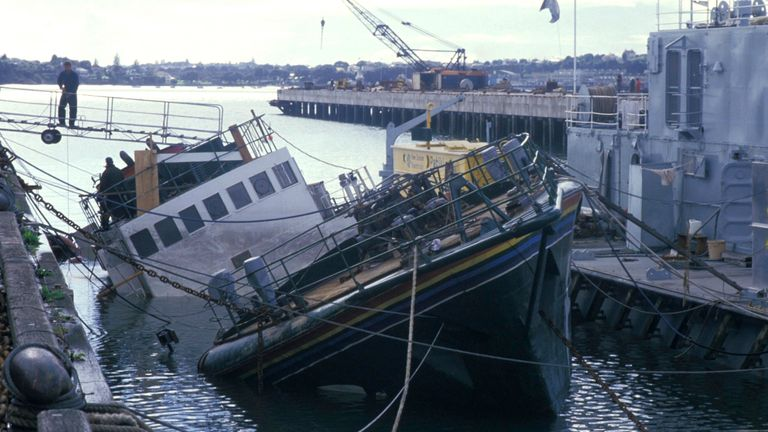The sinking of the Greenpeace ship Rainbow Warrior is one of the few attacks to take place in New Zealand