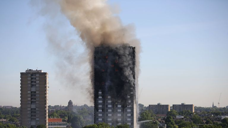 The Grenfell Tower fire broke out in June 2017