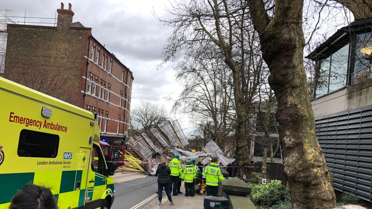 The scene in Hampstead. Pic: @DoctorKenny