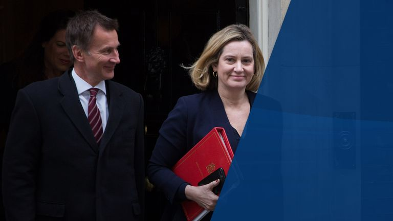 Jeremy Hunt and Amber Rudd both seem to be jostling for leadership