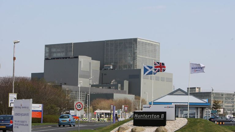 Hunterston B nuclear power station