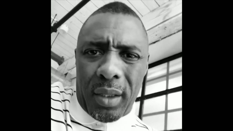 Idris Elba speaks out about knife crime. Pic: Instagram