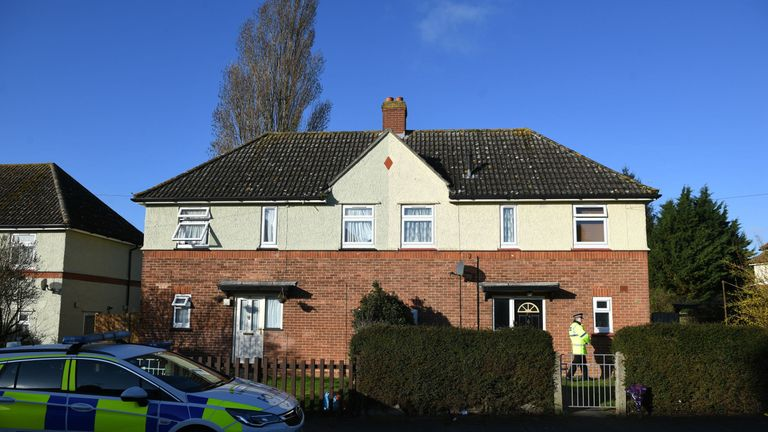 The woman and child were found at an address in Swinburne Road, Ipswich