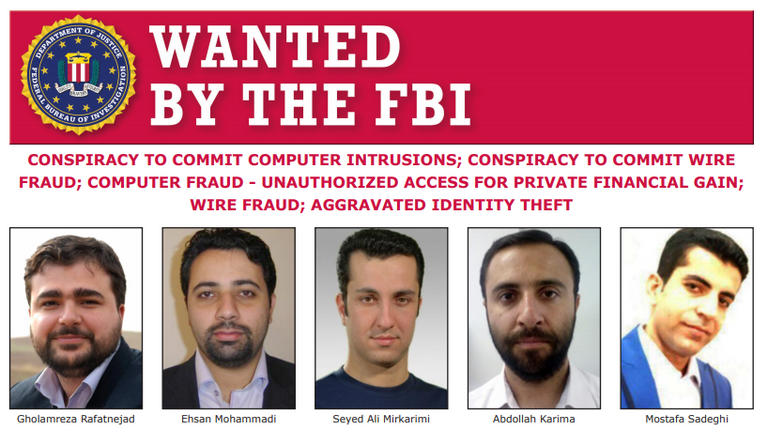 The Mabna Institute have been indicted by the FBI in 2018. Pic: Federal Bureau of Investigation