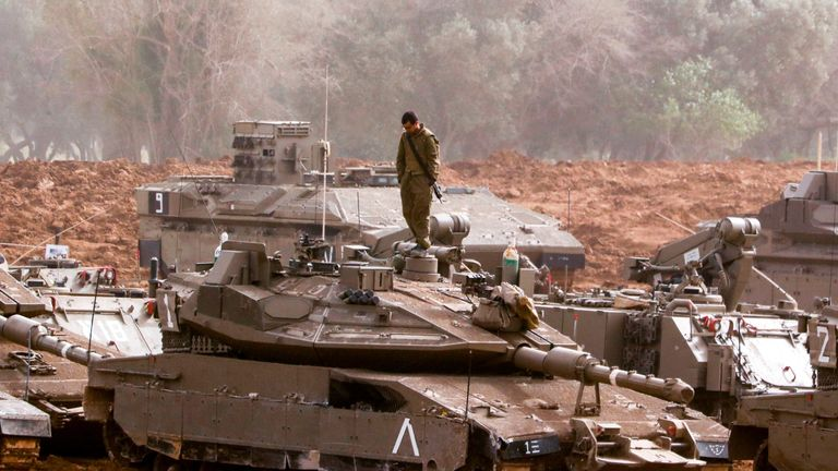 Israel tanks have been seen near the border fence