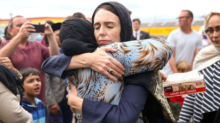 PM hugs mourners as country pays tribute to Christchurch victims