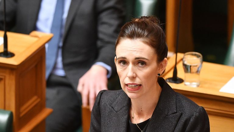 Jacinda Ardern was visibly moved during her address to the New Zealand parliament
