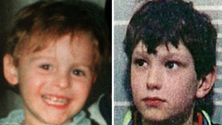 James Bulger, left, was murdered by Jon Venables, right, and Robert Thompson