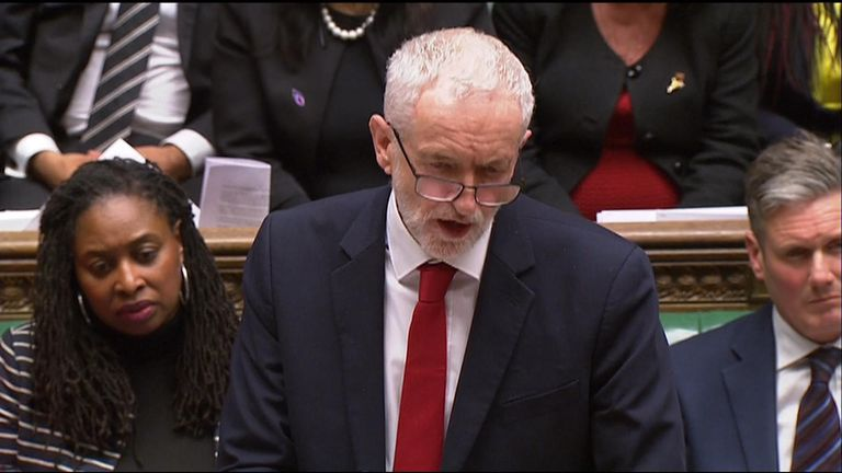 JEREMY CORBYN REACTS TO MAY BREXIT DEFEAT