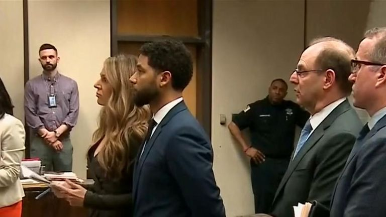 Jessie Smollett appears in court