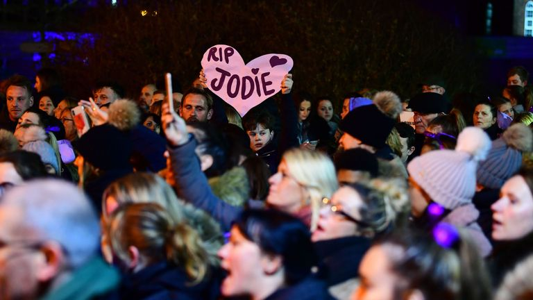 Friends and family of Jodie Chesney took part in a march in Romford to protest her murder