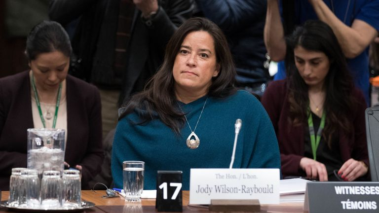 Former Canadian Justice Minister Jody Wilson-Raybould appeared before the justice committee over the SNC-LAVALIN affair