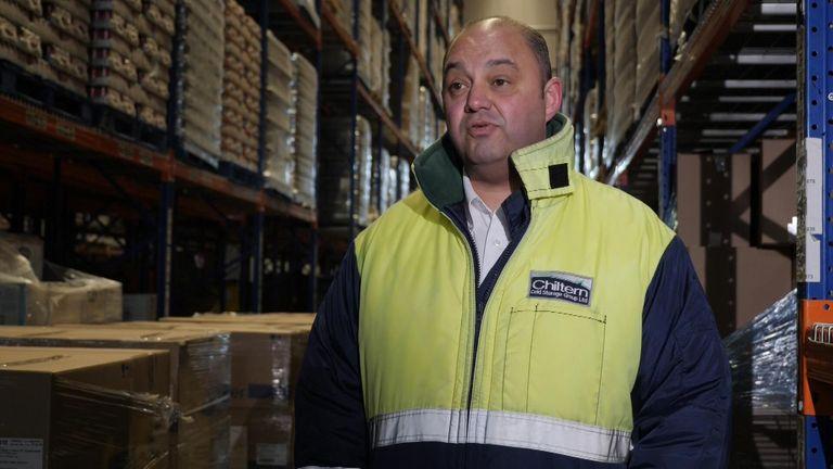 John Davidson, the managing director at Chiltern Cold Storage
