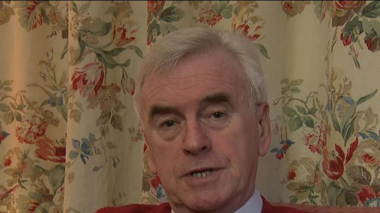 John McDonnell says a compromise needs to be reached on Brexit