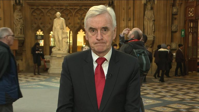 Shadow Chancellor John McDonnell shares his thoughts on the no-deal debate.
