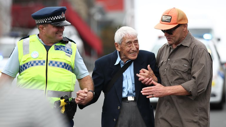 John Sato travelled from Howick to Auckland by several buses to reach a racism rally