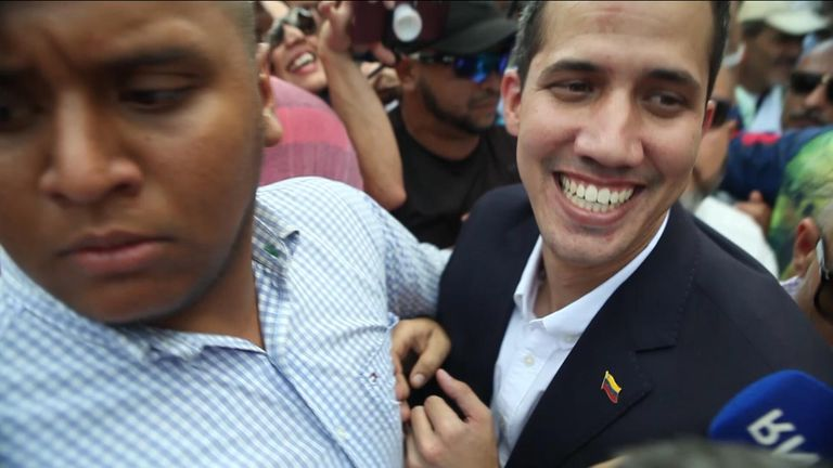 Venezuela's opposition leader Juan Guaido has returned to his homeland