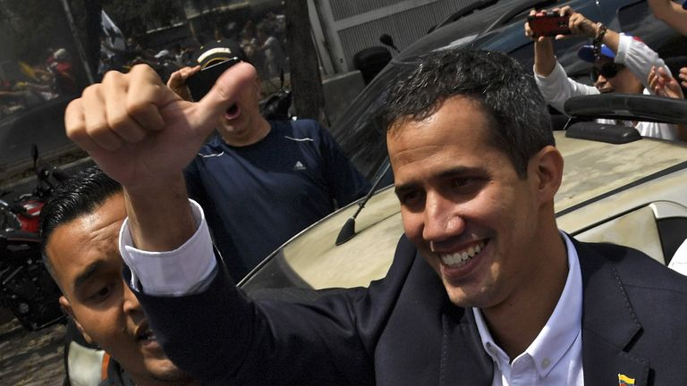 Juan Guaido has returned to Venezuela despite have been issued a travel ban