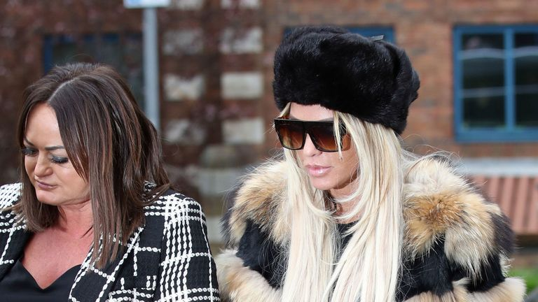 Katie Price denies being abusive outside primary school
