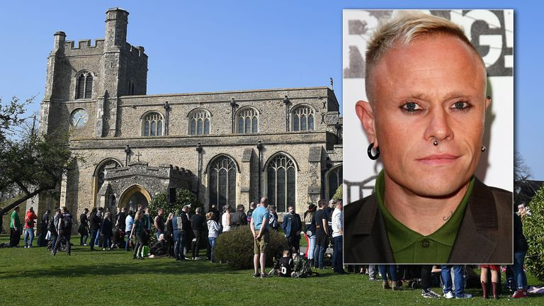 'It felt right to come here': The Prodigy fans gather for Keith Flint's funeral