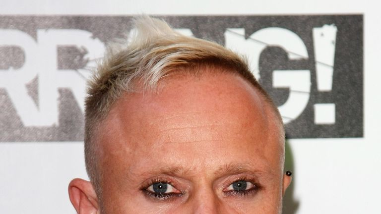 LONDON, ENGLAND - AUGUST 03:  Keith Flint of The Prodigy attends The Kerrang Awards 2009 held at The Brewery on August 3, 2009 in London, England.  (Photo by Gareth Cattermole/Getty Images)