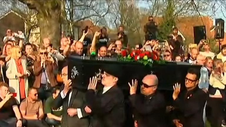 Funeral for Prodigy singer Keith Flint