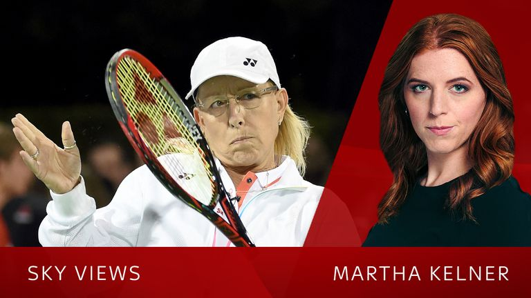 Martina Navratilova had been researching for two months before her article