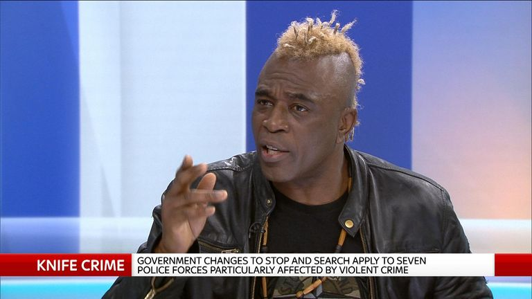 Ken Hinds in studio during knife crime debate.