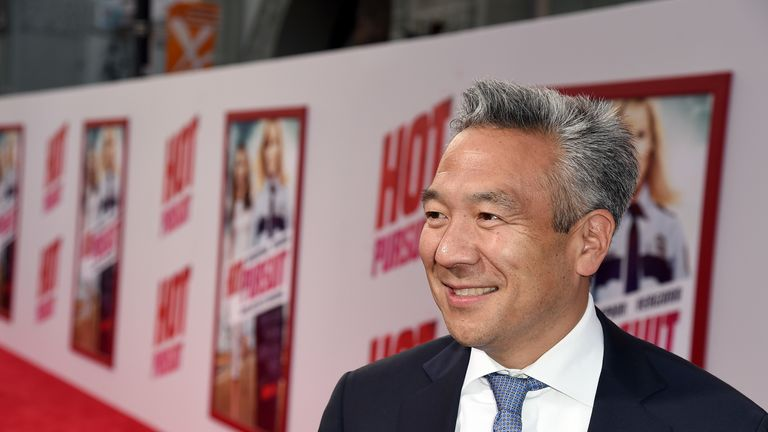 Chief Executive Officer of Warner Bros. Kevin Tsujihara attends the premiere of New Line Cinema and Metro-Goldwyn-Mayer's 'Hot Pursuit' at TCL Chinese Theatre on April 30, 2015 in Hollywood, California.