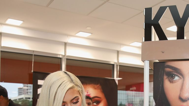 Kylie Jenner attends the launch of her range at an Ulta Beauty store in Texas