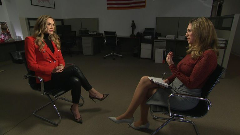 Lara Trump spoke exclusively to Sky News