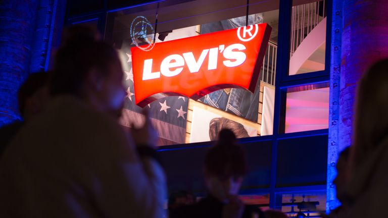 BERLIN, GERMANY - MARCH 25: The entrance of the Flagship Store is pictured during the Levi's Flagship Store Re-Opening on March 25, 2015 in Berlin, Germany. (Photo by Christian Marquardt/Getty Images)*** Local Caption ***