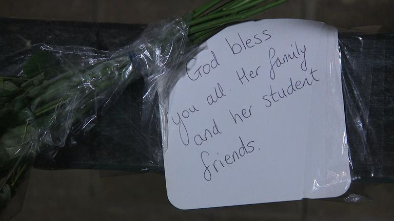 Messages were left on flowers on Beverley Road