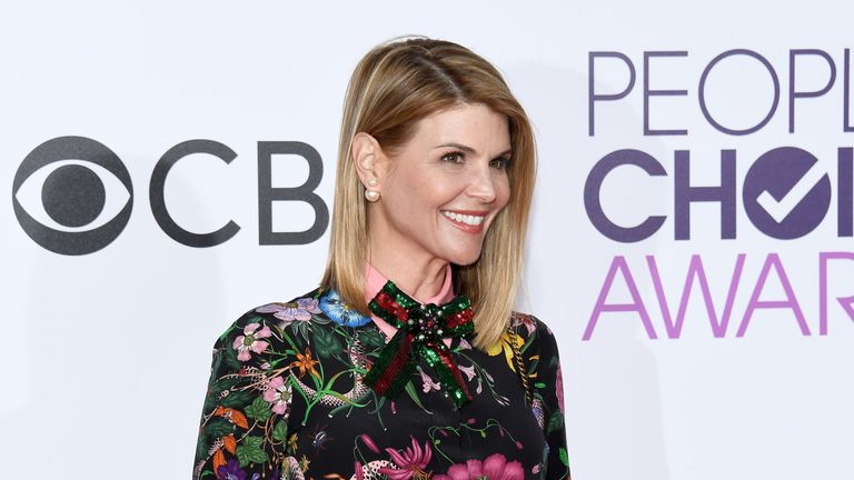 Lori Loughlin attends the People's Choice Awards 2017 in Los Angeles, California