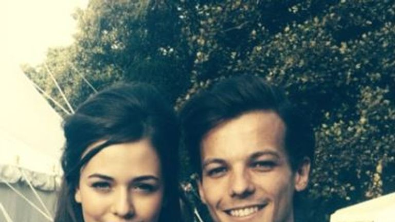 Felicite Tomlinson with brother and One Direction star Louis Tomlinson