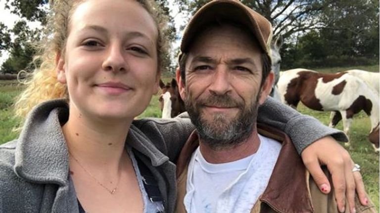Luke Perry's daughter Sophie posted this picture on Instagram following his death. Pic: Instagram/ @lemonperry