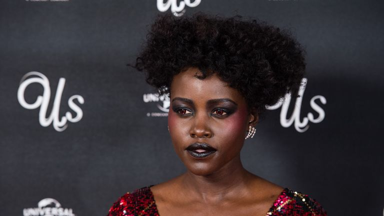 Lupita Nyong'o plays both the mother, Adelaide, and Adelaide's doppelganger.in the film