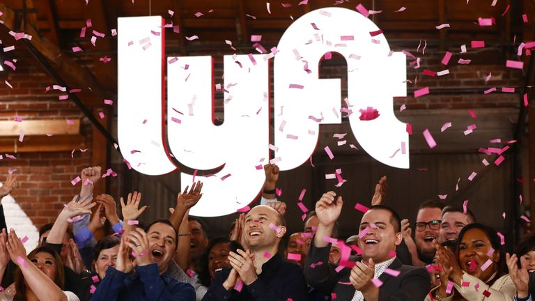Lyft makes market debut