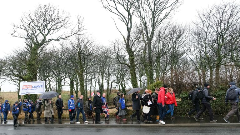 The March to Leave started off in Sunderland and ended in London on Friday